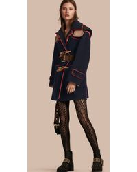 Burberry - Double-faced Wool Blend Duffle Coat - Lyst