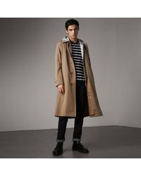 Burberry - The Brighton – Extra-long Car Coat In Taupe Brown - Men | - Lyst