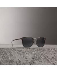 Burberry - Square Frame Acetate Sunglasses - Lyst