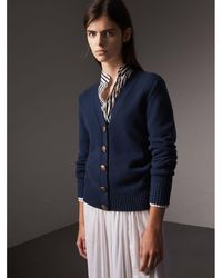 Burberry - Bird Button Cashmere Cardigan - Lyst