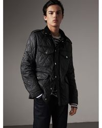 Burberry - Diamond Quilted Field Jacket Black - Lyst