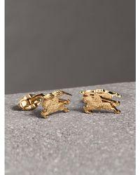 Burberry - Equestrian Knight Cufflinks Light Gold - Lyst