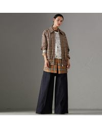 Burberry - Stretch Japanese Denim Wide-leg Jeans - Lyst