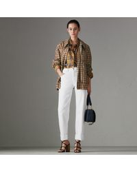 Burberry - Straight Fit Power-stretch Denim Jeans - Lyst