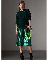 Burberry - Ruffle Detail Lamé Skirt – Online Exclusive - Lyst