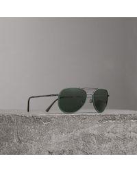 Burberry - Folding Pilot Sunglasses - Lyst