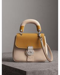 Burberry - The Small Dk88 Top Handle Bag With Geometric Print - Lyst