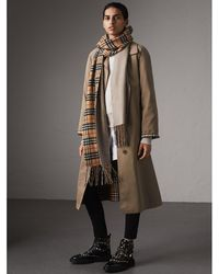 Burberry - The Brighton - Extra-long Car Coat In Taupe Brown - Women | - Lyst
