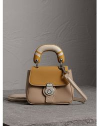 Burberry - The Mini Dk88 Top Handle Bag With Geometric Print - Lyst