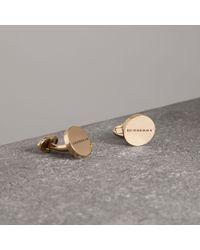 Burberry - Engraved Bronze Cufflinks - Lyst