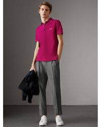 Burberry - Cotton Piqué Polo Shirt - Lyst