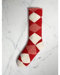 Burberry - Argyle Knitted Wool Socks - Lyst