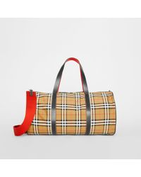 eb5f69f2598d Lyst - Burberry The Large Alchester In Horseferry Check And ...