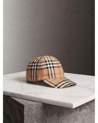 Burberry - Vintage Check Baseball Cap - Lyst