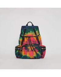 Burberry - Sprayed Nylon Backpack - Lyst