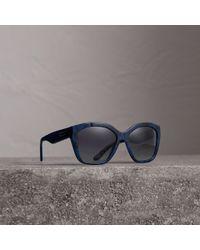 e2a6a5b2d65 Lyst - Burberry B3082 Pilot Sunglasses in Blue