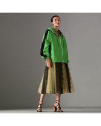 Burberry - Stripe Detail Showerproof Hooded Jacket - Lyst