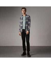 Burberry - Straight Fit Stretch-denim Jeans - Lyst