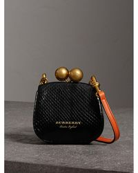 Burberry - Mini Two-tone Python Frame Bag - Lyst