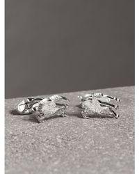 Burberry - Equestrian Knight Cufflinks Silver - Lyst