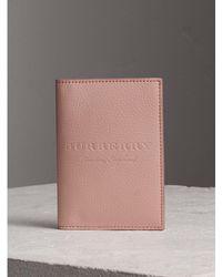 Burberry Sport - Embossed Leather Passport Holder - Lyst