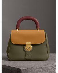 Burberry - The Medium Dk88 Top Handle Bag Moss Green/ochre Yellow - Lyst