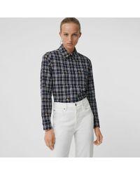 Burberry - Equestrian Knight Check Cotton Shirt - Lyst