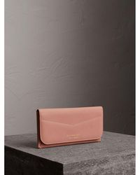 Burberry - Trench Leather Envelope Wallet - Lyst