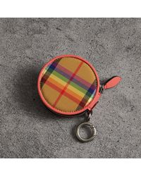 Burberry - Rainbow Vintage Check Coin Case - Lyst