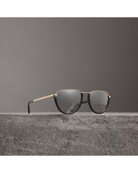 Burberry - Half Moon Pilot Round Frame Sunglasses - Lyst