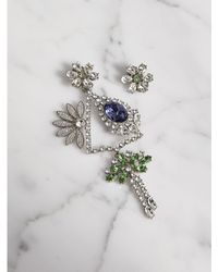 Burberry - Crystal Daisy Chandelier Earring And Stud Set - Lyst