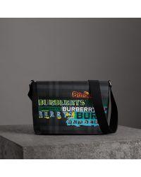 6acb96837564 Burberry Cotton Canvas Messenger Bag in Orange for Men - Lyst