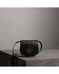 Burberry - The Satchel In Riveted Leather - Lyst