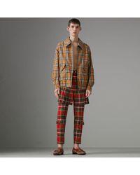 Burberry - Stewart Royal Tartan Trousers - Lyst