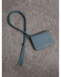 Burberry - Embossed Leather Id Card Case Charm - Lyst