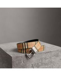 Burberry - Reversible Vintage Check Leather Belt - Lyst