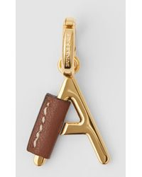 Burberry - Leather-wrapped 'a' Alphabet Charm - Lyst