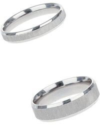 Burton - 2 Pack Silver Stainless Steel Rings - Lyst