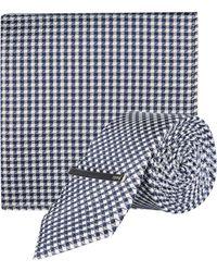 1df80a2e8f05 Burton Grey Tie And Clip in Gray for Men - Lyst