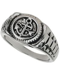 Burton - Anchor Signet Ring - Lyst