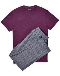 Burton - Burgundy Slub Top With Grindle Trousers Set - Lyst