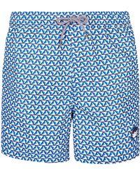 d8869293bc Burton - Blue Geometric Jive Print Short Length Swim Shorts - Lyst