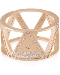 shamsa alabbar tricrop ain diamond ring lyst