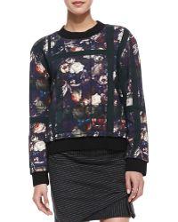 Thakoon Addition - Floral & Plaid Sweatshirt - Lyst