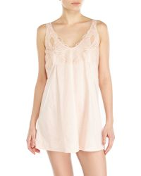 La Perla Pink Embroidered Babydoll - Lyst