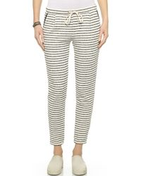 Splendid West Shore Stripe Sweatpants - Black - Lyst
