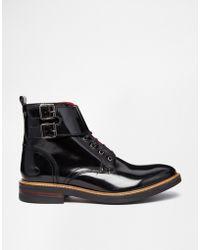 Base London Longleat Buckle Boots - Lyst