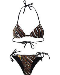 Fendi - Zebra Triangle Bikini - Lyst
