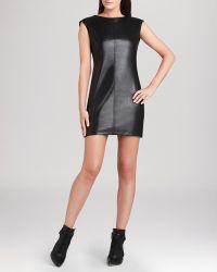 BCBGMAXAZRIA Bcbg Max Azria Dress Karlee Faux Leather - Lyst