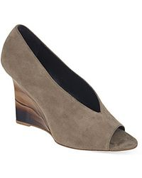 Burberry Reyard Suede Wedges - For Women brown - Lyst